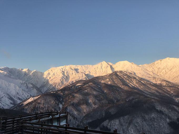 白馬三山が一番きれいに見える場所