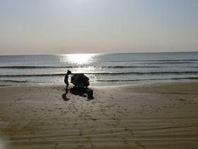能登・千里浜海岸で丸い地球を実感!オススメは夕日とグルメ?!