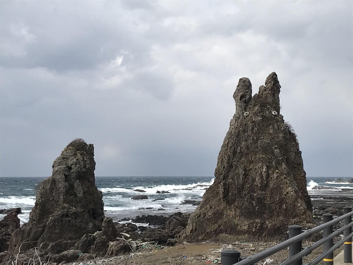 夕陽の日本海を!「じんのびの湯」