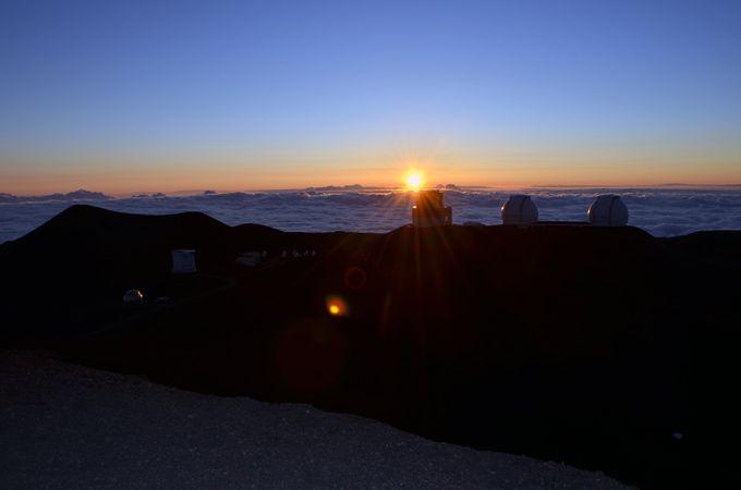 標高4,200メートルから見る夕日
