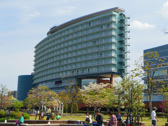 デザインがとっても斬新な建築のホテル