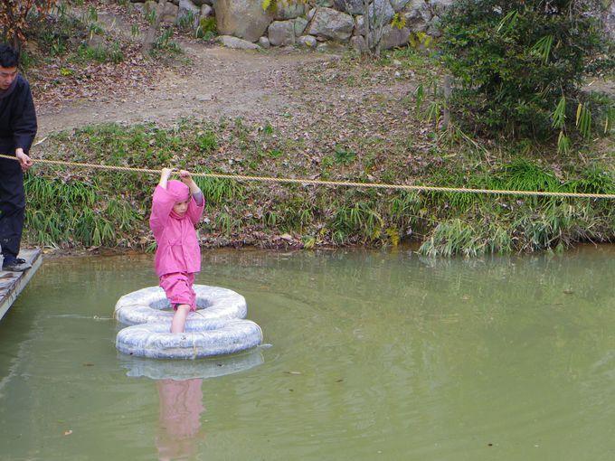 最後の難関は「水グモ池」!