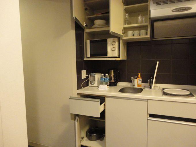 全室に一通りそろっています!調理器具と食器