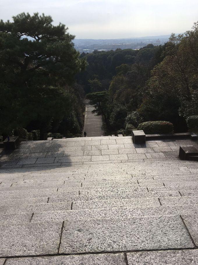 豊臣秀吉が築いた「木幡山(こはたやま)伏見城」の本丸跡地からの眺めは大パノラマ