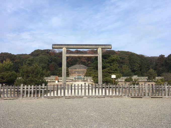 歴代の天皇が眠る京都、最後の天皇陵。