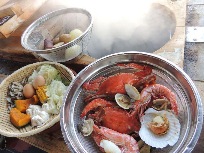 地獄釜を使ったヘルシー料理で、昔ながらの湯治の雰囲気を味わおう
