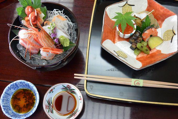 七尾湾の魚を主体に量より質を重んじた料理