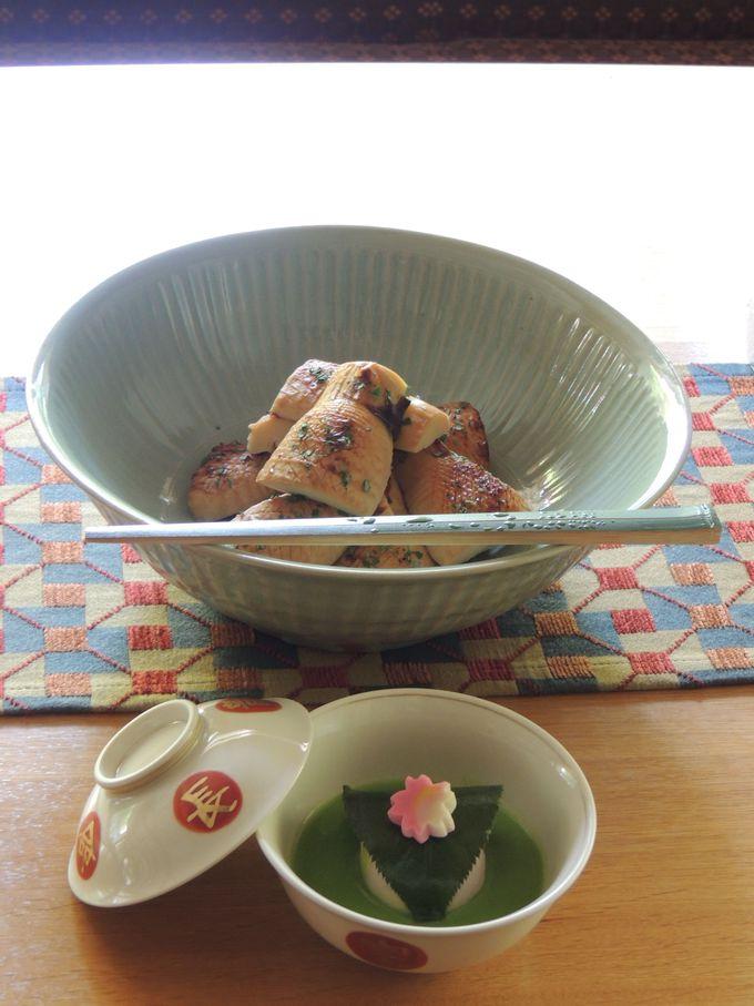 地元の食材をふんだに使用した美しい料理