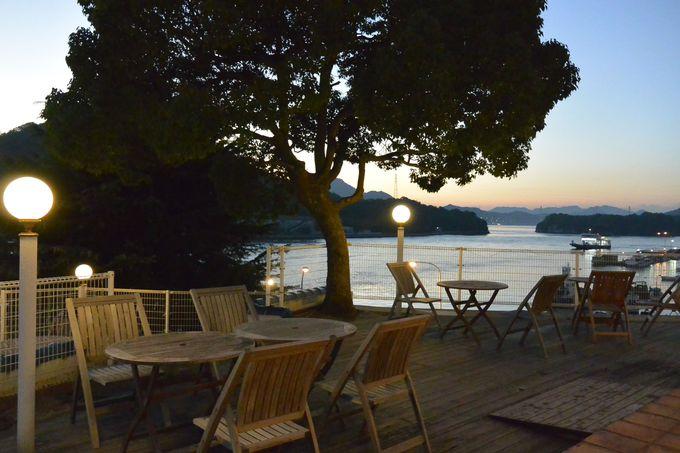 瀬戸内海の美しいサンセットを眺めながら食前酒を!