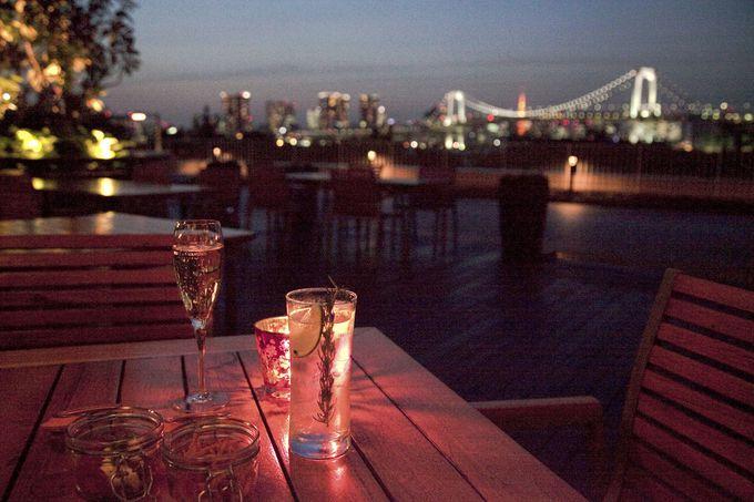 ヒルトン東京お台場のラウンジ&シャンパンバー「ベランダ」