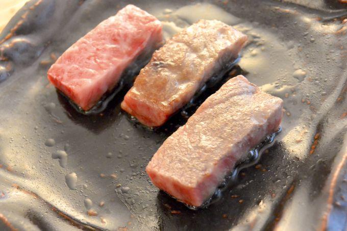 夕食は飛騨牛の陶板焼きがおたのしみ