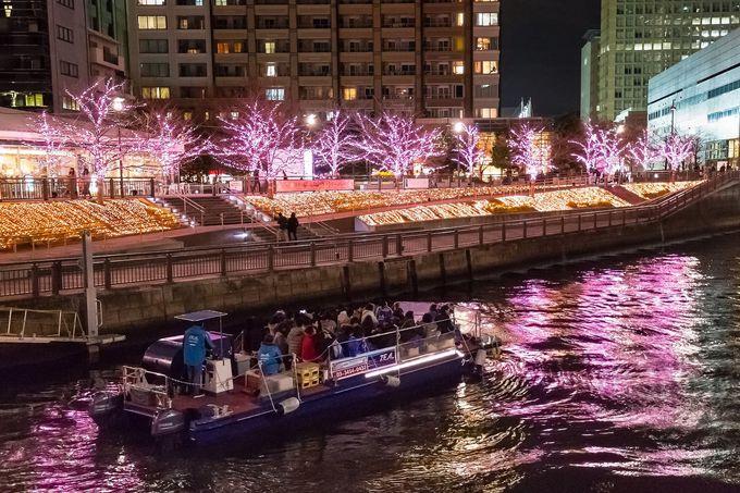 冬には「目黒川・冬の桜」を見るクルージングも催行