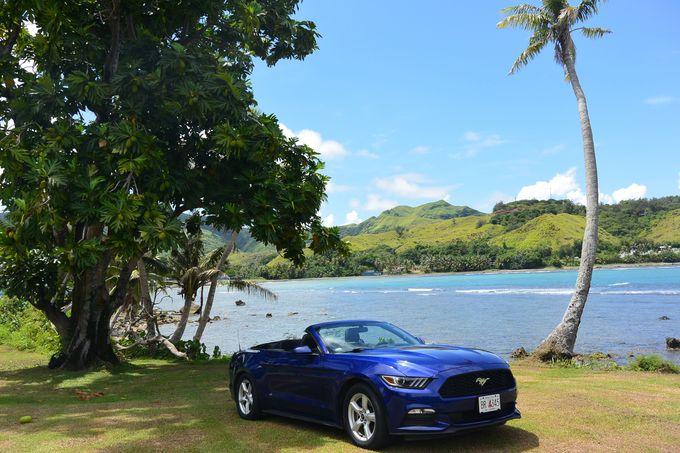 3日目は、のどかで美しい風景が広がる島の南部をドライブ