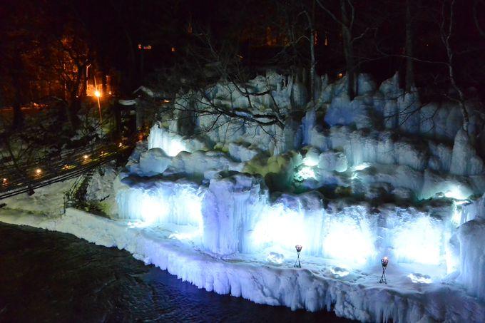 冬季限定!大迫力の氷瀑を鑑賞しよう