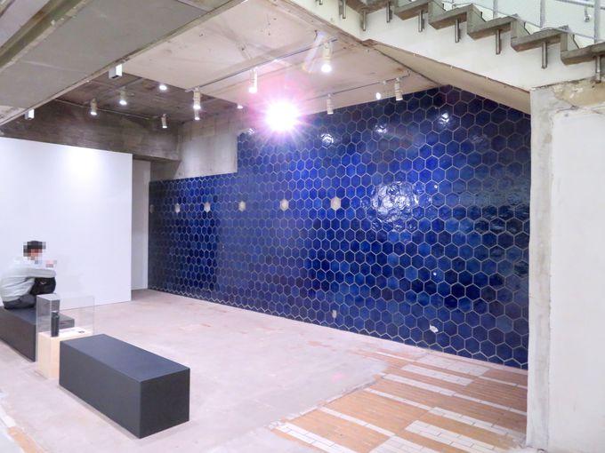 50年前のタイルや看板も見学できる地下2階スペース