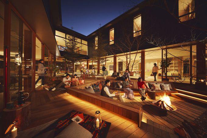 パブリックスペース「TAMARIBA」の屋内&屋外で遊ぼう