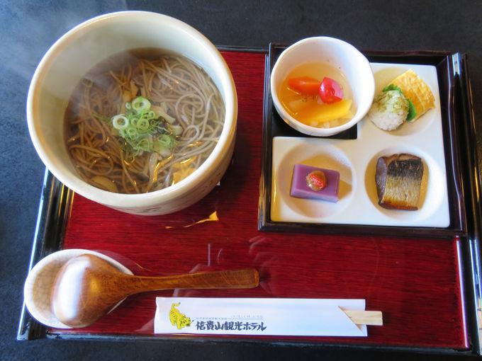 豊富な食事プランを用意!昼食は系列の食事処「蓬乃里」へ
