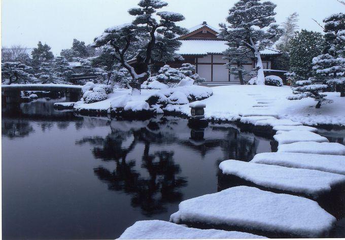 まるで江戸時代を彷彿とさせる本格的日本庭園