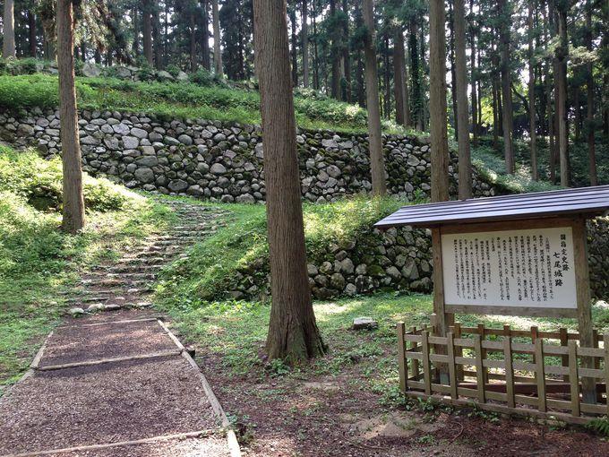 山城の特徴を残す良好な保存状態