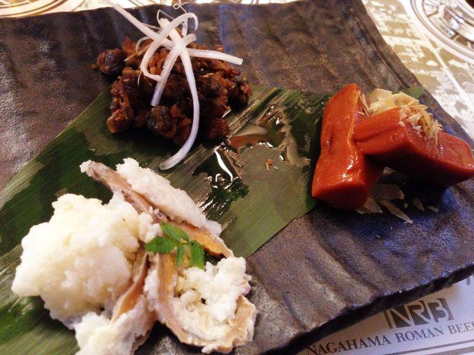 滋賀の食材を使った数々の料理