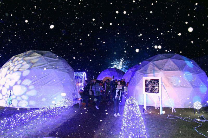 姫路の北で雪のかまくら!?峰山高原ホテルリラクシアのアイスルータウン