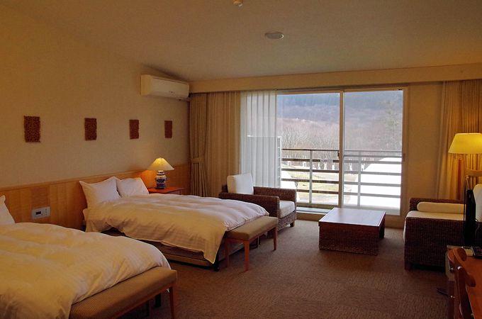 高原リゾートらしい演出とバリエーション豊富な客室