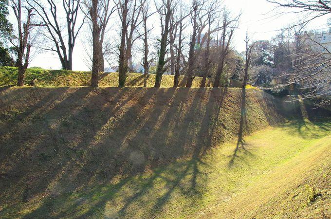 水戸城の威容を今に伝える空堀