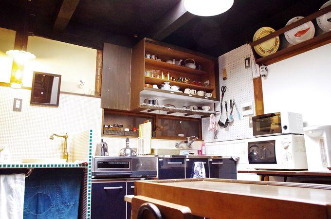 清潔で使いやすい共有スペースも京町家らしく