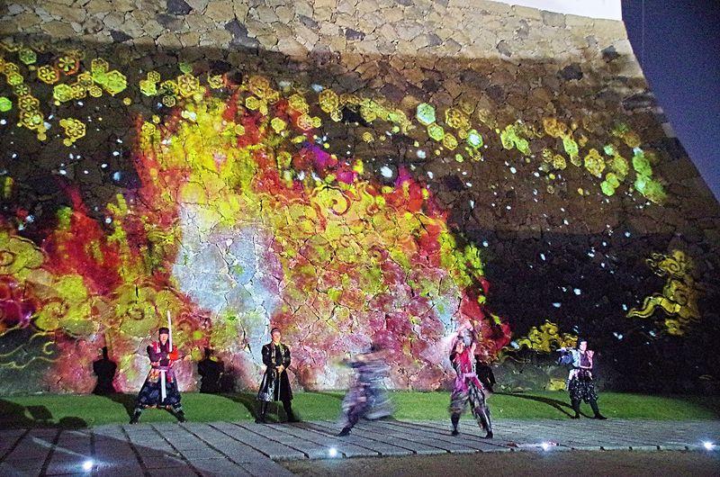 「NINJA NIGHT 2020」夜の姫路城で忍者が舞う