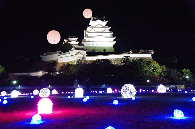 三の丸広場で開催「姫路城ファンタジーイルミネーション−千姫−」