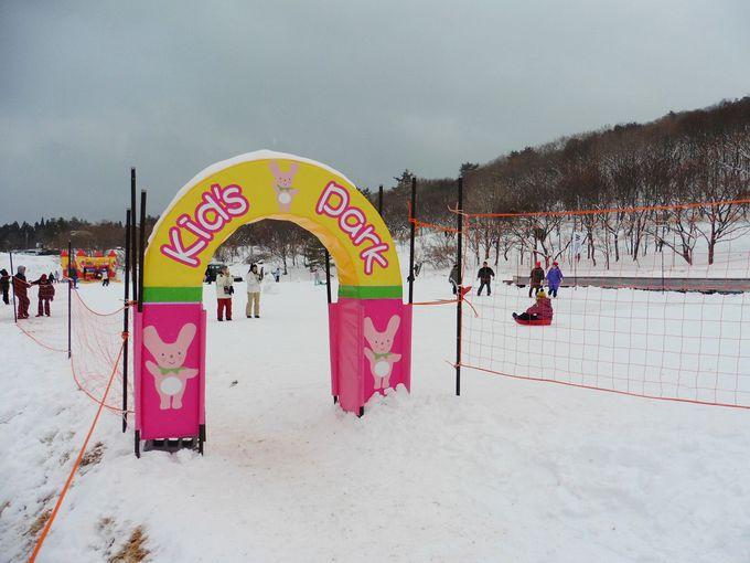 西日本最大級のキッズパークで子どもと一緒に雪遊び