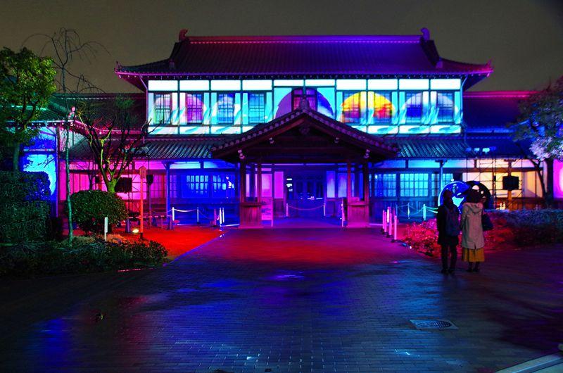 旧二条駅舎(京都鉄道博物館)でプロジェクションマッピング初開催