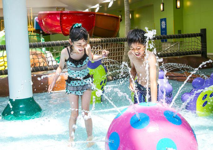小さな子どもたちが大喜び水の楽園も大人気