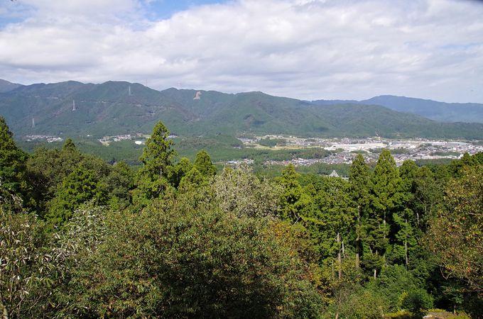 「小早川秀秋陣跡」松尾山と関ケ原合戦図屏風に描かれた大杉「福島正則陣跡」