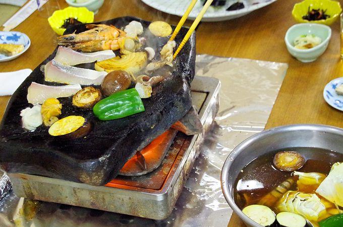 対馬南部の名物料理「いりやき」と「石焼き」