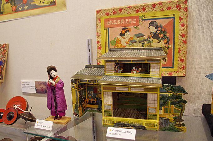 時代ごとに展示されたおもちゃたち
