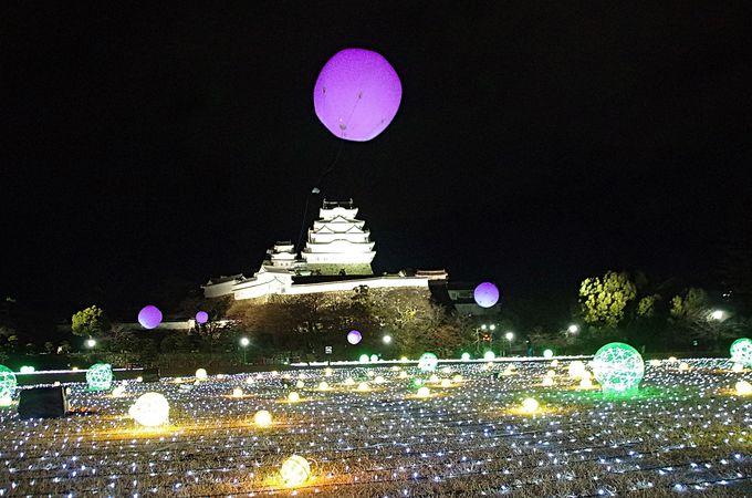 イルミ瞬く姫路城、四季を感じるライトアップ