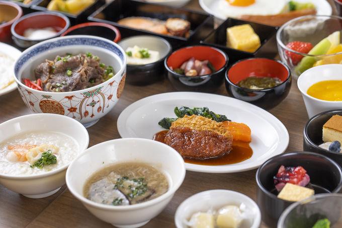 朝食は神戸の名物料理も並ぶ和洋セミバイキング