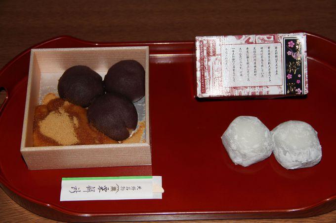 天神さん(北野天満宮)の門前菓子、「長五郎餅」と「粟餅」はどちらも長〜い歴史の名物♪