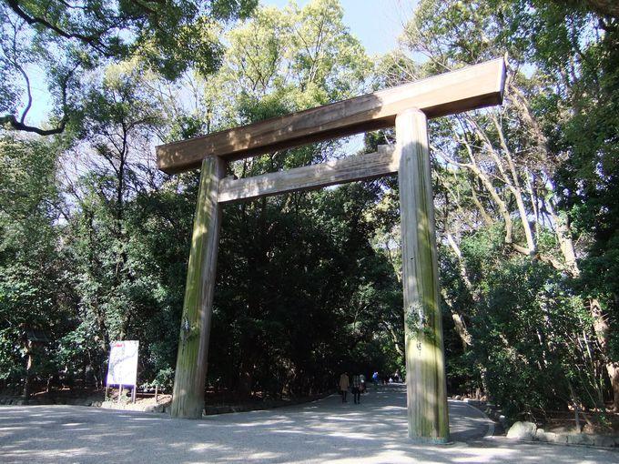 「あつたの杜」という名に相応しい樹齢何百年もの木々が生い茂る神宮