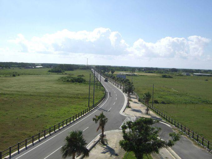 日本の道100選にも選ばれている黒島