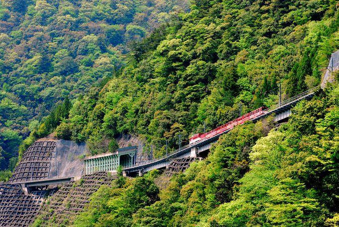 アプト区間は、アプトいちしろ駅⇔長島ダム駅の1区間のみ!
