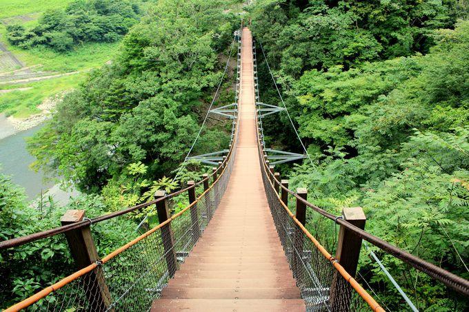日本一の階段吊橋「宮沢橋」!