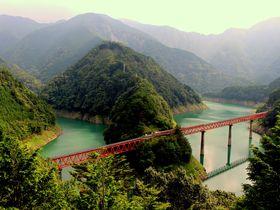 大井川鐵道「奥大井湖上駅」から吊橋日本一を渡り接岨峡温泉を目指そう!