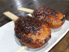 湯谷温泉「田舎茶屋 まつや」の五平餅は日本中で2番目に美味しい!