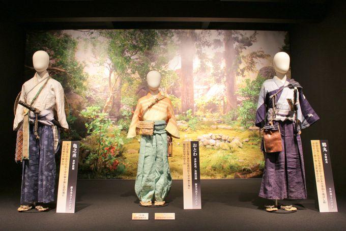 「井伊氏居館風造作」・「直虎シアター」・「美術の世界」エリアについて