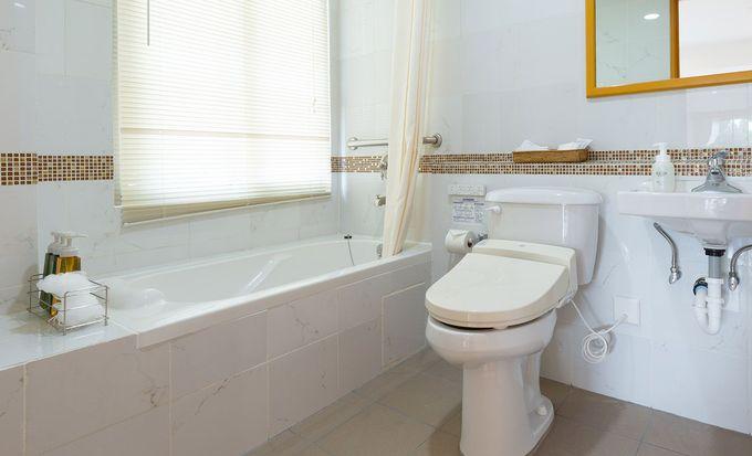 ウォシュレット付の清潔バスルーム
