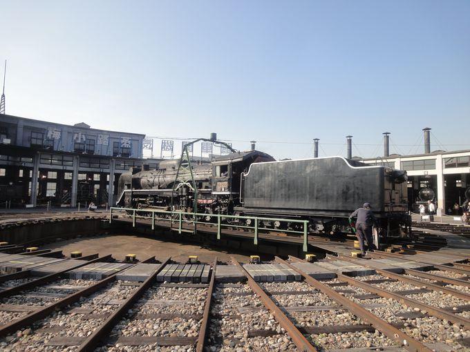 最終運転後の見どころ!転車台(ターンテーブル)で蒸気機関車が回転する姿に大興奮!