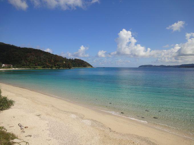 笠利湾にはきれいな砂浜のビーチが多数!ダイビングでも有名な倉崎ビーチは波も穏やか遠浅で海水浴向き!
