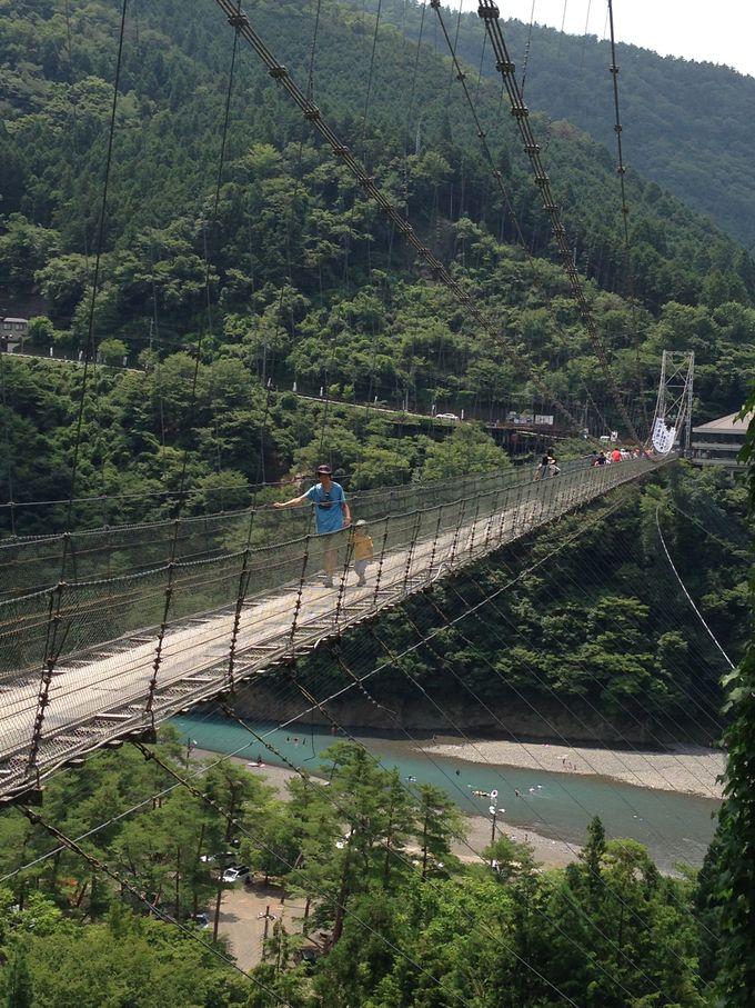 """日本最大の村「十津川」で吊り橋と温泉と""""野猿""""体験"""
